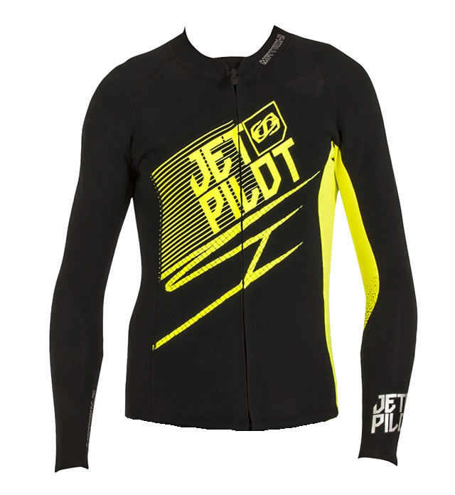 JETPILOT MALAYSIA MATRIX 3 JACKET BLACK YELLOW